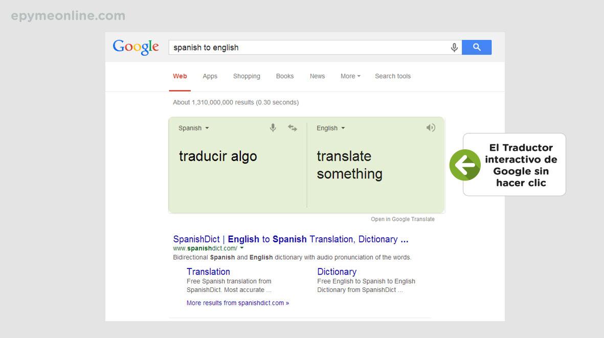 Páginas de resultados de búsqueda interactivas