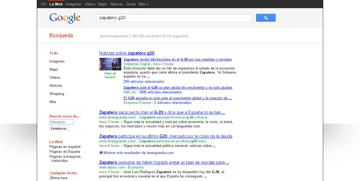Google Freshness Update - Zapatero