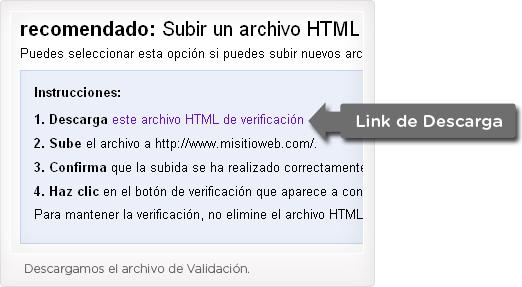 Paso 3 subir un archivo HTML