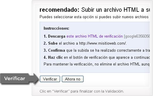 Paso 3 verificar el archivo html