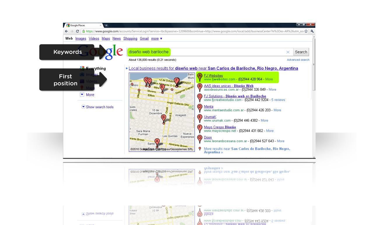 Google Places en los resultados de búsqueda