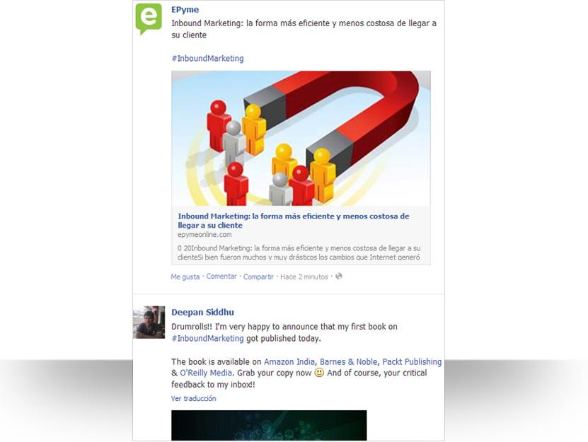 Hashtags de Facebook