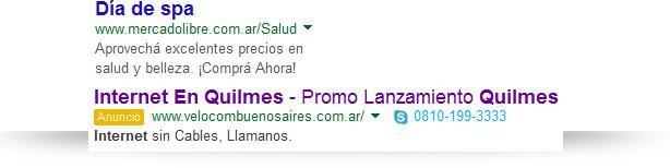 ejemplos de anuncios de AdWords