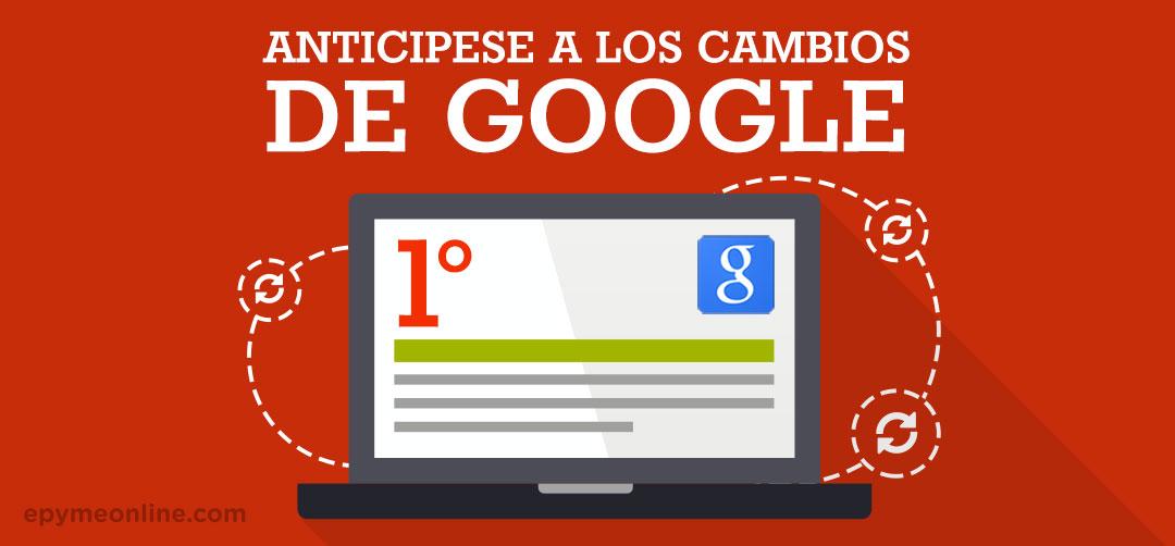 Anticiparse a los cambios de Google, para mejorar tu SEO