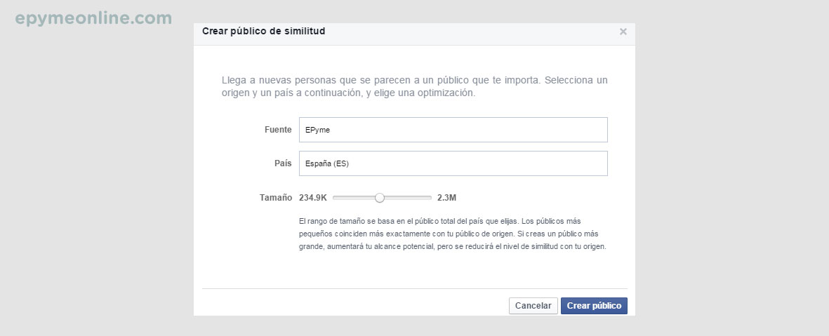Público similar en Facebook