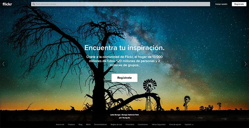 Flickr - Conocido banco comunitario de imágenes de todo tipo