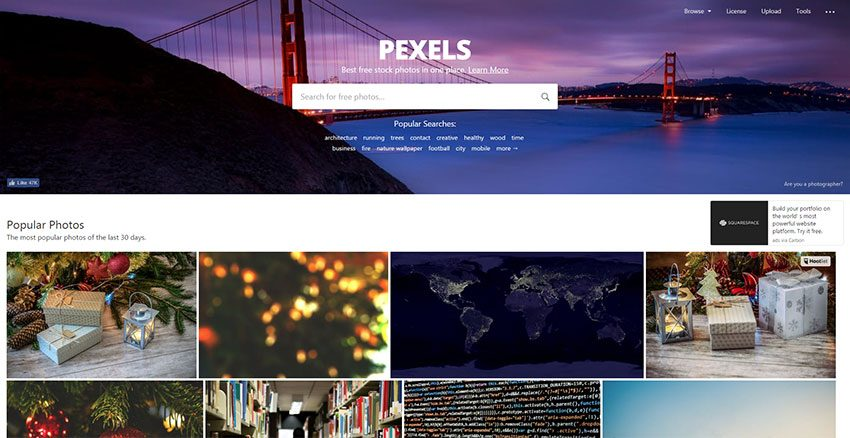 Pexels - Excellently free image bank