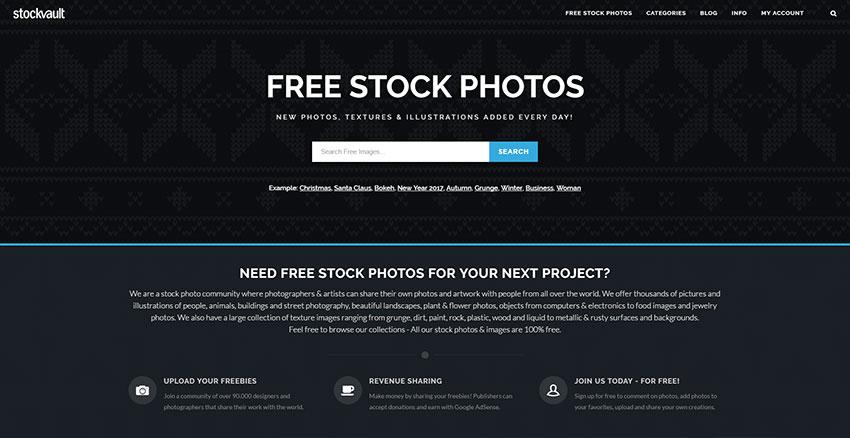 Stockvault - Conocido banco de fotos de gran calidad
