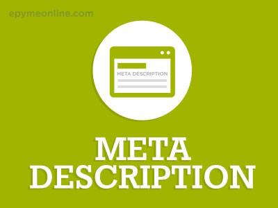 ¿Qué es el Meta Description?