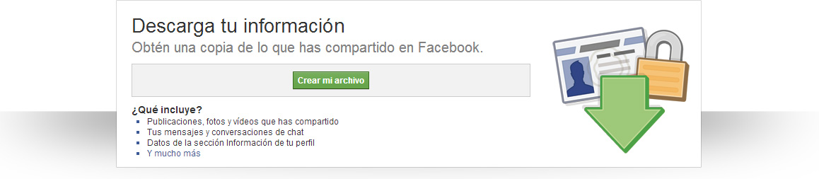 copia de seguridad de Facebook