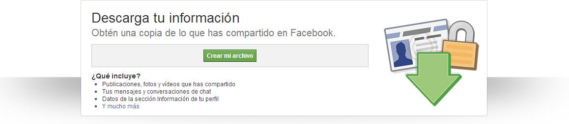 copia de seguridad de Facebook