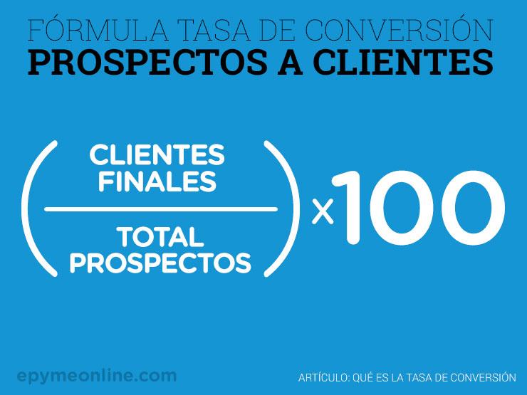 Fórmula de conversión de prospecto a cliente