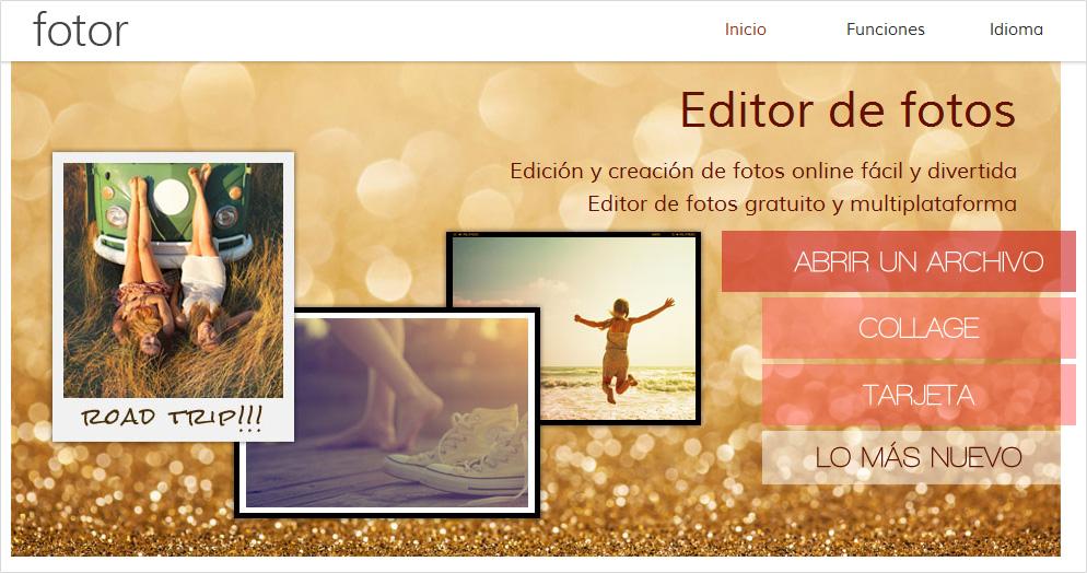 Fotor, herramienta de edición de imágenes