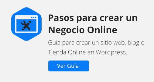 Guía crear Negocio Online en Wordpress