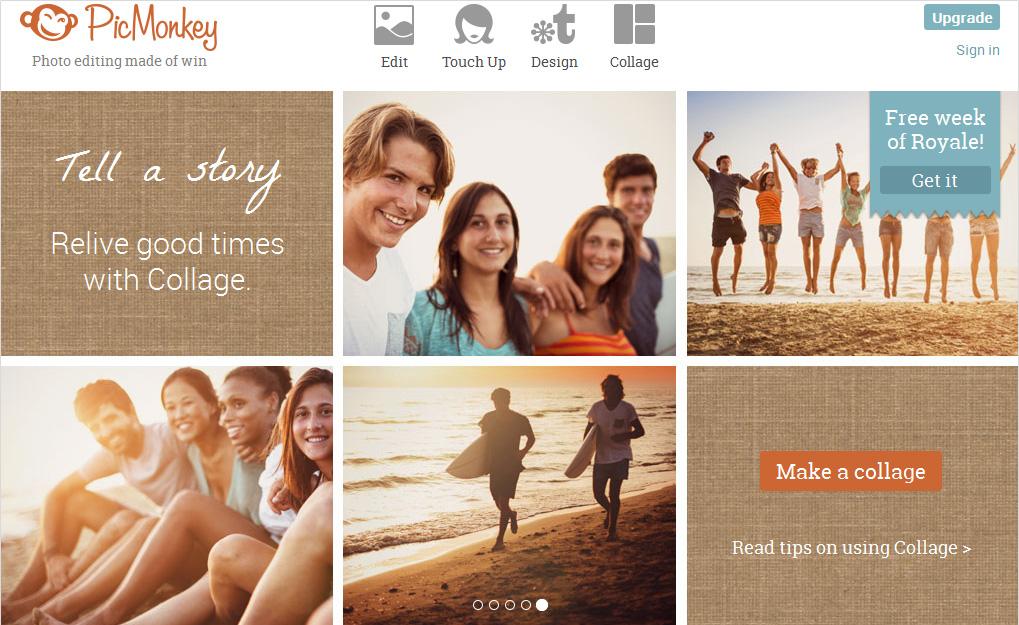 PicMonkey, herramienta para crear imágenes