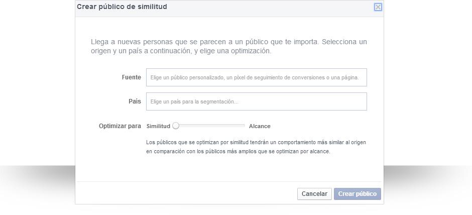 Público similar de Facebook