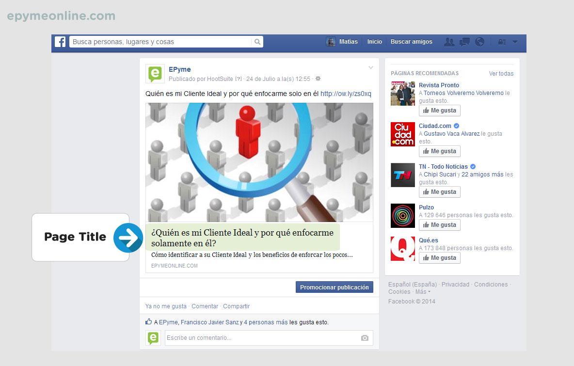 Page Title en las redes sociales