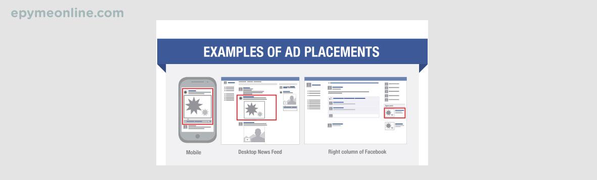 Ubicación de anuncios de Facebook Ads